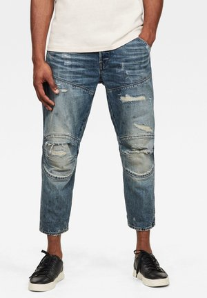 5620 3D ORIGINAL RELAXED TAPERED - Jeans fuselé - antic faded ripped prussian blue