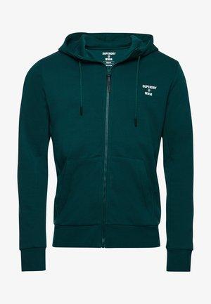 Zip-up hoodie - mid pine