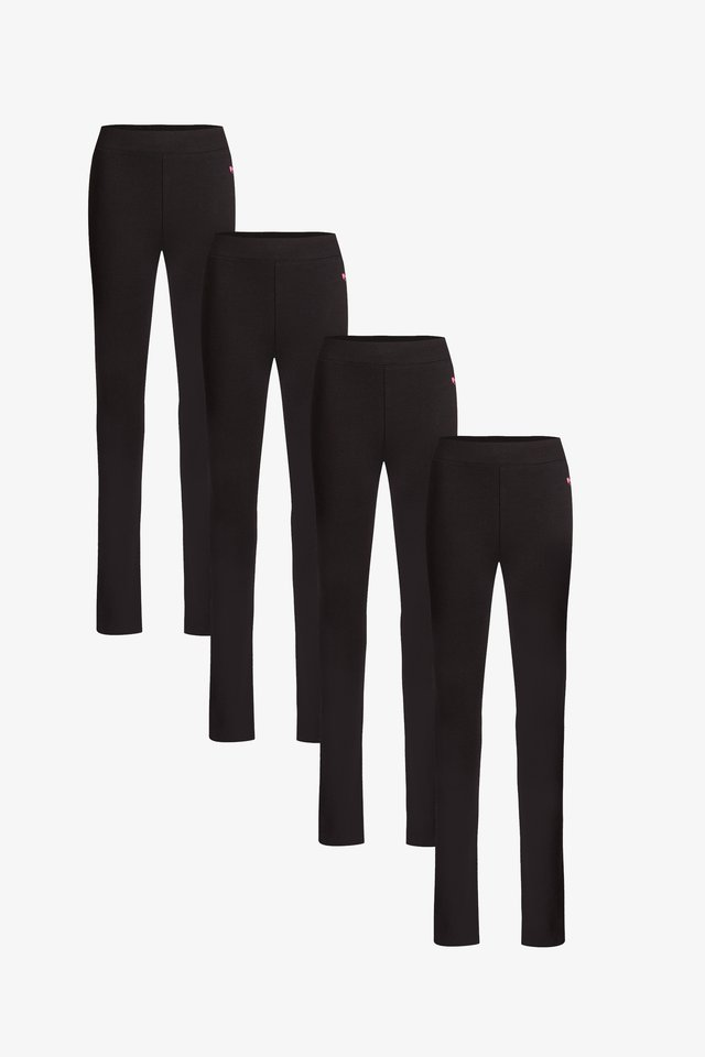 4-PACK - Leggings - black