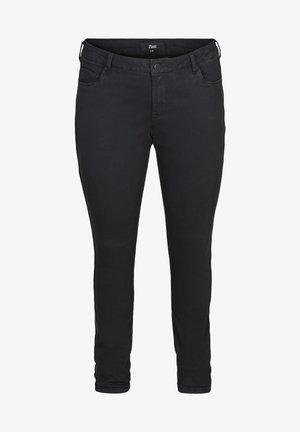 SANNA MIT LUREX-DETAIL - Jeans slim fit - black