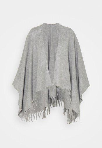 PONCHO - Cape - grey