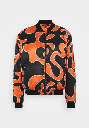 FLEMING - Bomber Jacket - black/orange