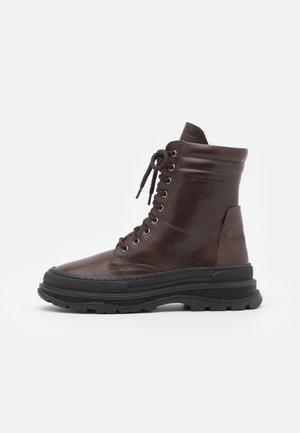 UNISEX - Šněrovací kotníkové boty - dark brown