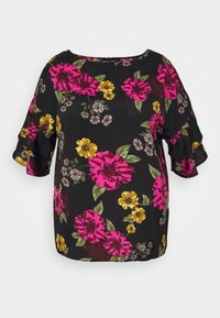 CAPSULE by Simply Be - FLUTED SLEEVE BOXY - Blouse - berry - 4