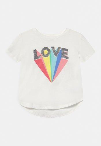 GIRL - Print T-shirt - new off white