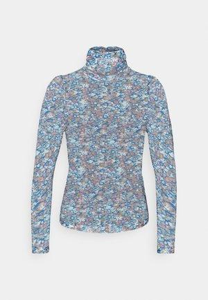 VMLULU HIGH NECK - Long sleeved top - mykonos blue