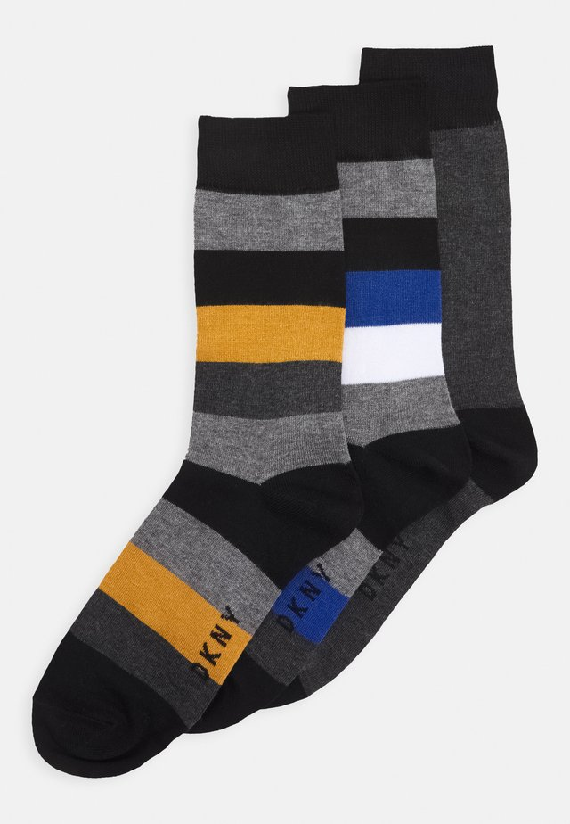 HARMON 3 PACK - Socks - blue/black/mustard