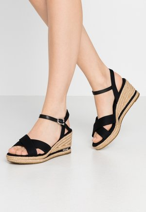 MADELYN ROPE - Espadrillas - black