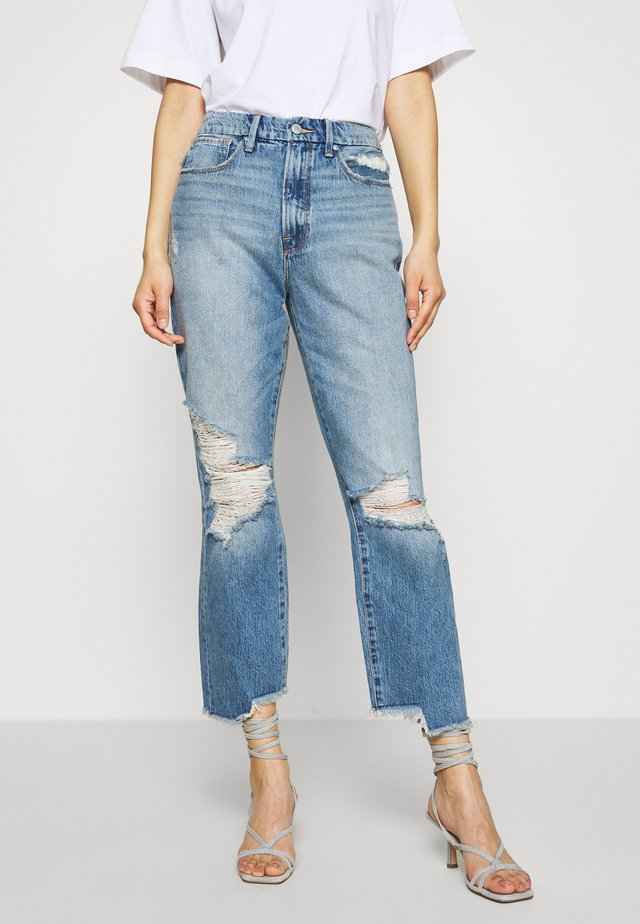 GOOD VINTAGE SIDE STEP - Jean boyfriend - blue