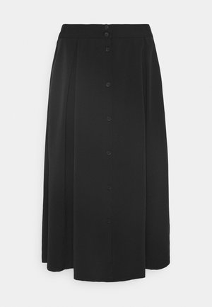 SIGRID BUTTON SKIRT - A-line skirt - black dark