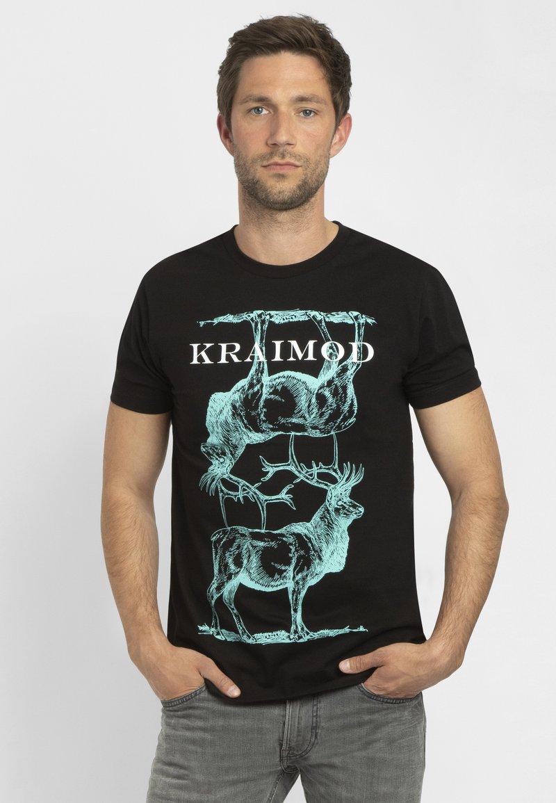 Apart - MIT DRUCK - Print T-shirt - schwarz