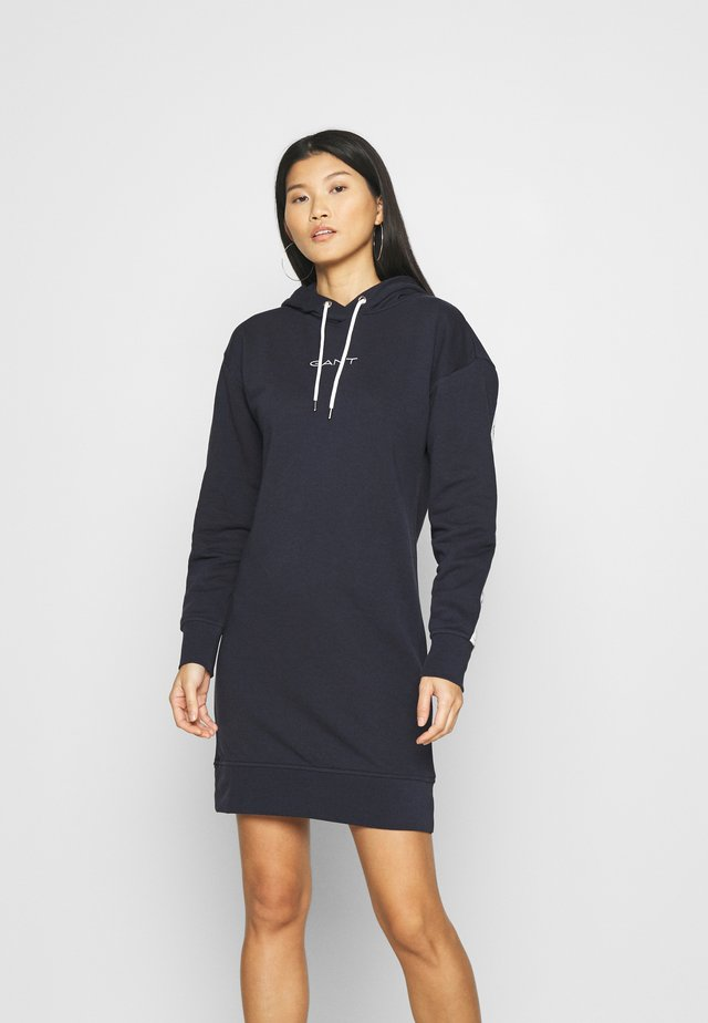 HOODIE DRESS - Day dress - evening blue
