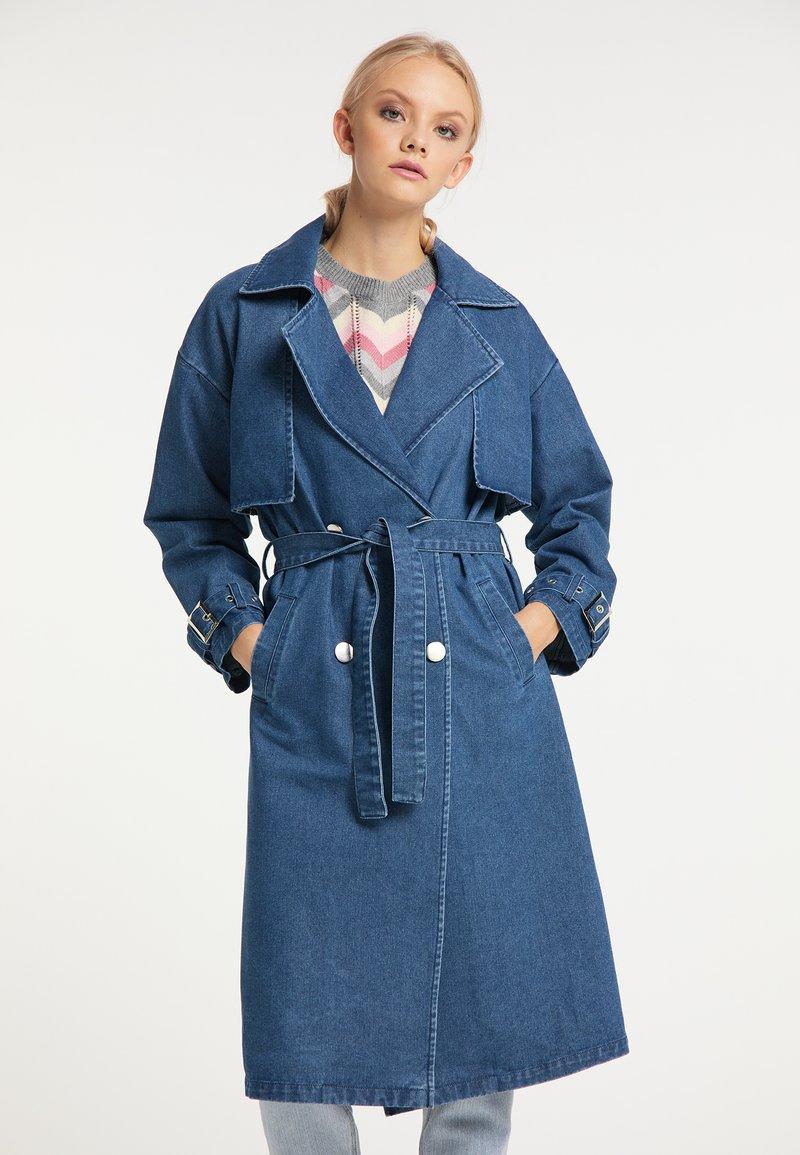 myMo - Trenchcoat - blau denim