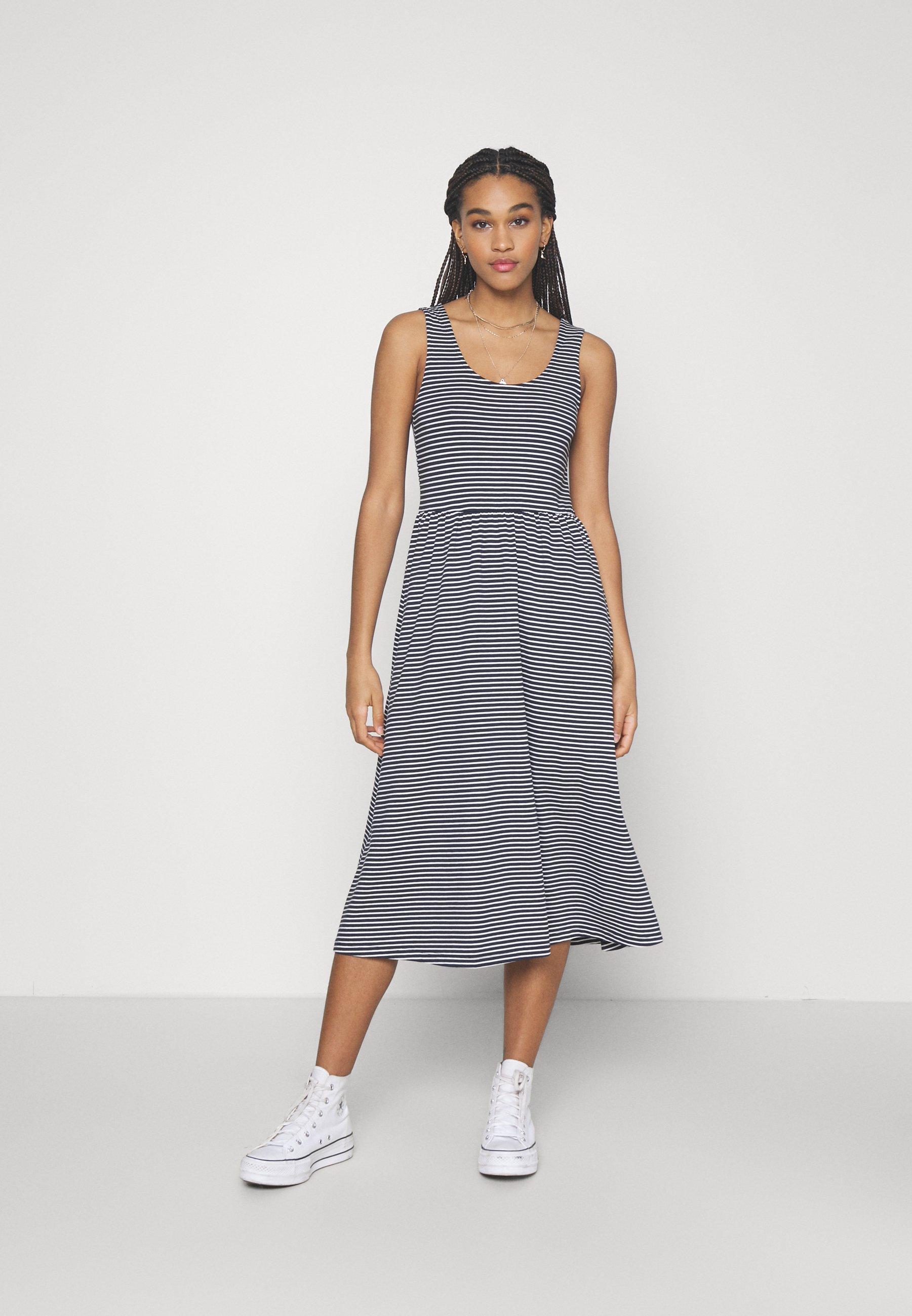 Mujer OBJSTEPHANIE MIDI DRESS - Vestido ligero