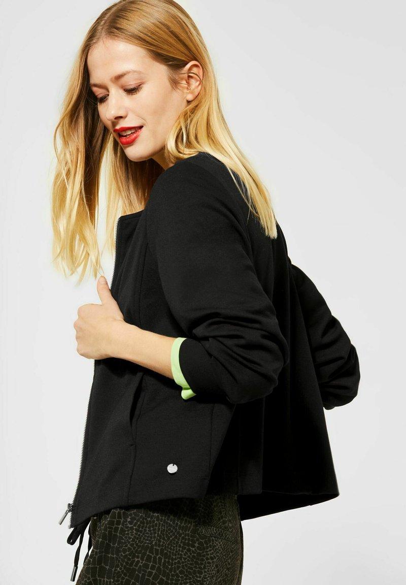 Street One - Summer jacket - schwarz