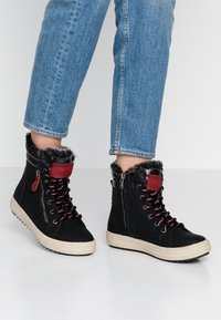 TOM TAILOR - Lace-up ankle boots - black - 0