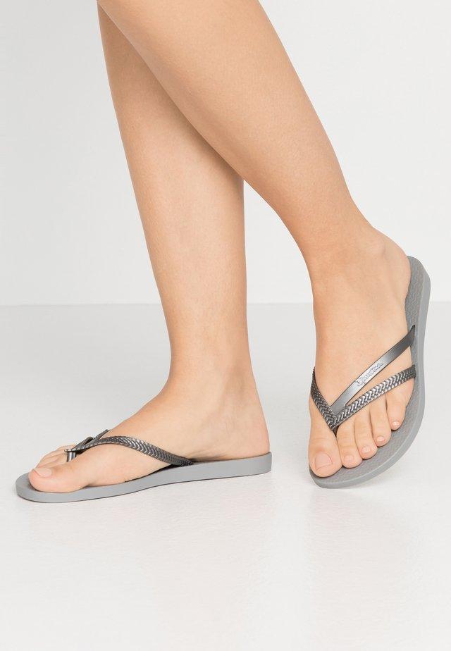 BOSSA - Tongs - grey/silver