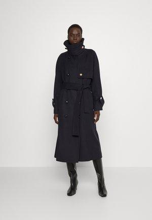 FUNNEL COLLAR  - Klasický kabát - dark navy