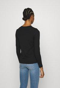 Calvin Klein - STUD LOGO TEE - Top sdlouhým rukávem - black - 2