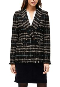 s.Oliver BLACK LABEL - MET FRANJES - Blazer - black check - 3