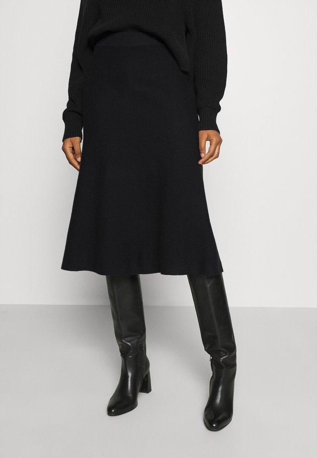 VMFRESNO CALF SKIRT - A-line skirt - black