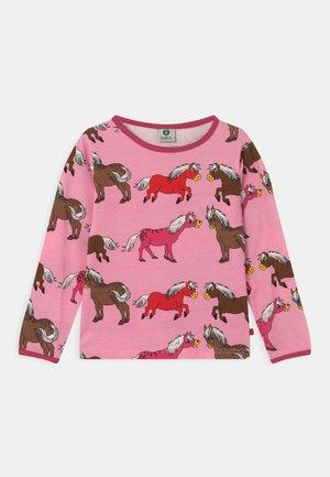 HORSES UNISEX - Long sleeved top - sea pink