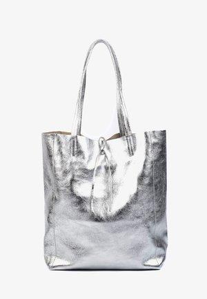 WITH INTERIOR POCKET - Shopper - argento