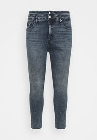 Calvin Klein Jeans Plus - HIGH RISE SKINNY ANKLE - Jeans Skinny Fit - blue/black denim - 4