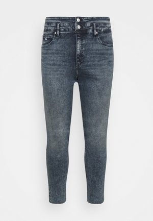 HIGH RISE SKINNY ANKLE - Jeans Skinny Fit - blue/black denim