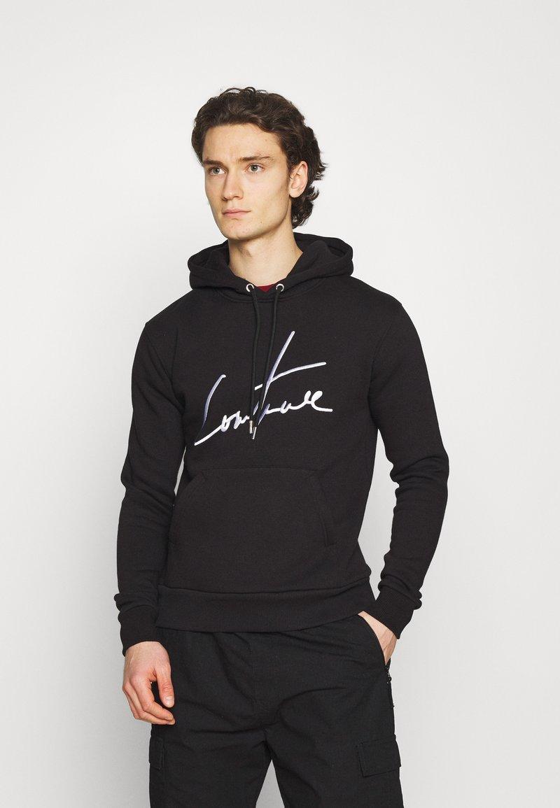 The Couture Club - ESSENTIALS SIGNATURE SLIM FIT HOODIE - Huppari - black