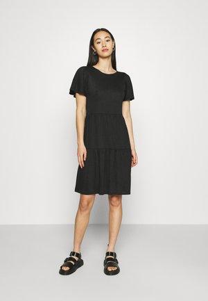 VMSIGNE DETAIL TIE DRESS - Žerzejové šaty - black