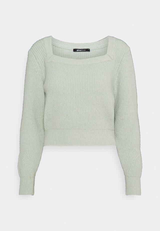 KIM - Pullover - aqua gray