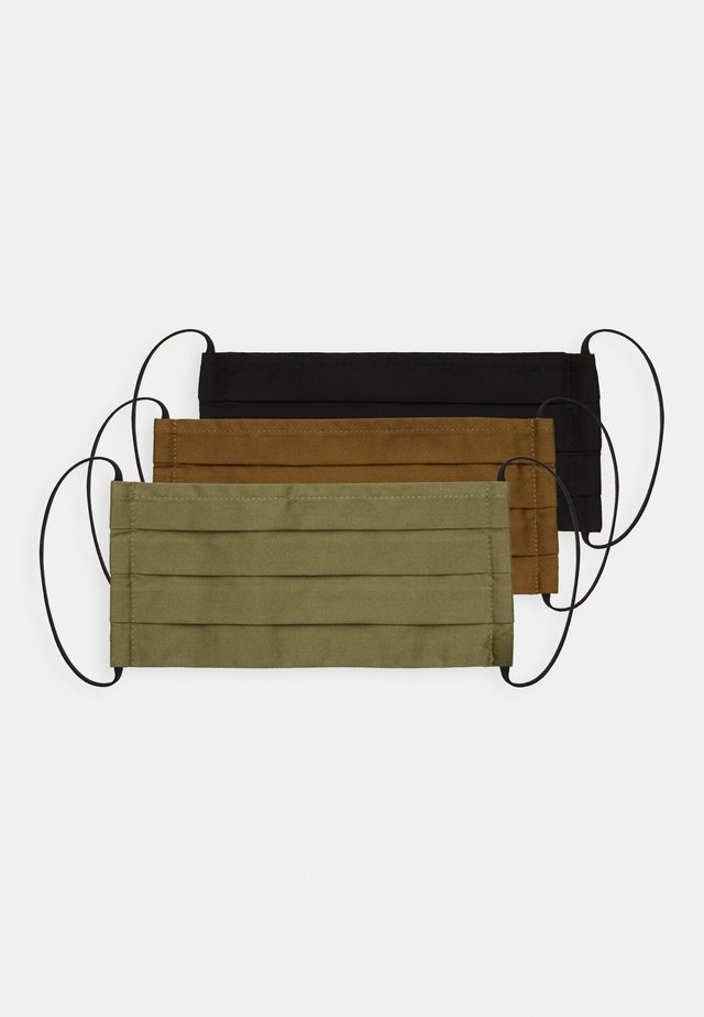 3 PACK - Maska z tkaniny - dark green/black/khaki