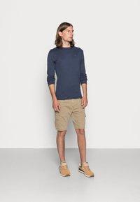 Tommy Jeans - ORIGINAL SLIM FIT - Long sleeved top - black iris - 1