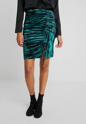 Spódnica mini - pine grove/black