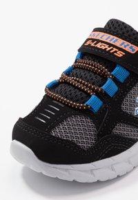 Skechers - MAGNA LIGHTS - Trainers - black/gray/orange/blue - 2