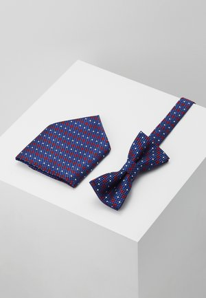 ONSTOBIAS BOW TIE BOX HANKERCHIE SET - Taskuliina - copen blue