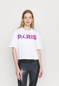 Nike Performance - JORDAN PARIS ST GERMAIN TEE  - Club wear - white - 0
