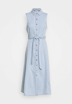 OBJLUCINDA LONG DRESS - Denim dress - light blue denim