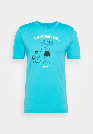 TEE CANT FAKE IT - Sports shirt - chlorine blue