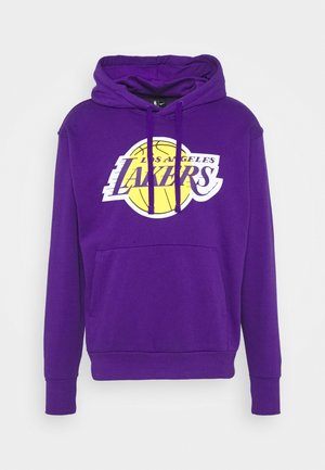 NBA LOS ANGELES LAKERS ESSENTIAL HOODIE - Article de supporter - field purple/amarillo