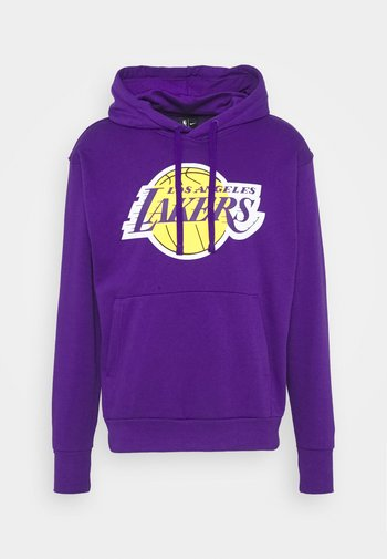 NBA LOS ANGELES LAKERS ESSENTIAL HOODIE - Klubbkläder - field purple/amarillo