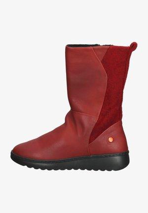 Platform boots - red/red