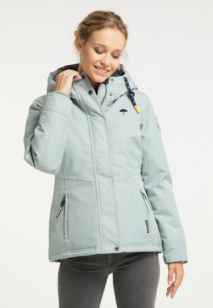 Winter jacket - rauchmint melange