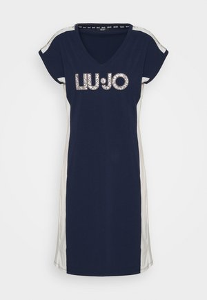 ABITO - Jersey dress - blu navy