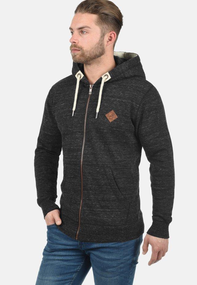 KAPUZENSWEATJACKE CRAIG - Sweater met rits - black
