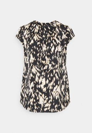 KURZARM - T-shirt print - black/beige