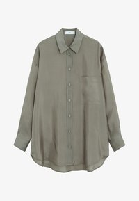Mango - GRETITA - Button-down blouse - khaki - 6