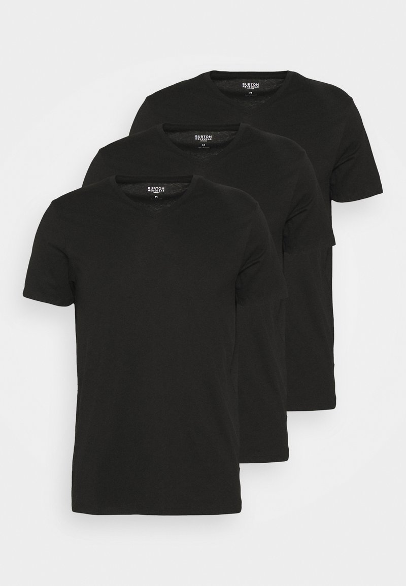 Burton Menswear London - 3 PACK - T-shirt basic - black
