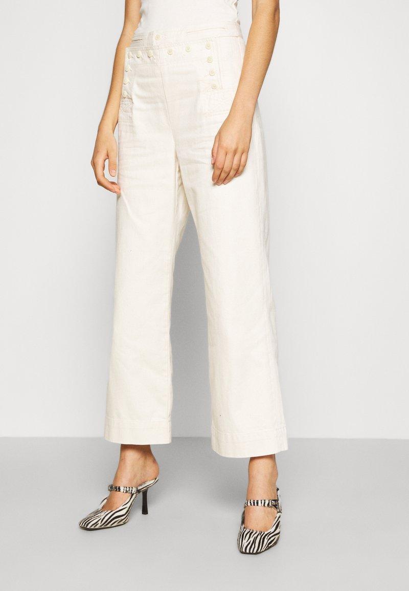 Tory Burch - SAILOR PANT - Trousers - natural